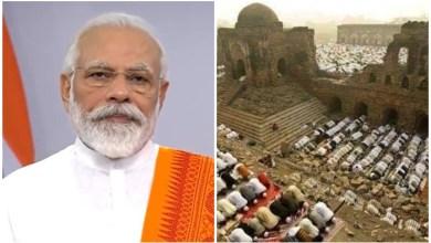 Photo of PM India letak batu asas bina kuil di masjid yang dimusnah perusuh