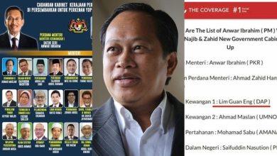 Photo of Dua kali saya disenarai jadi menteri kewangan Kabinet Anwar
