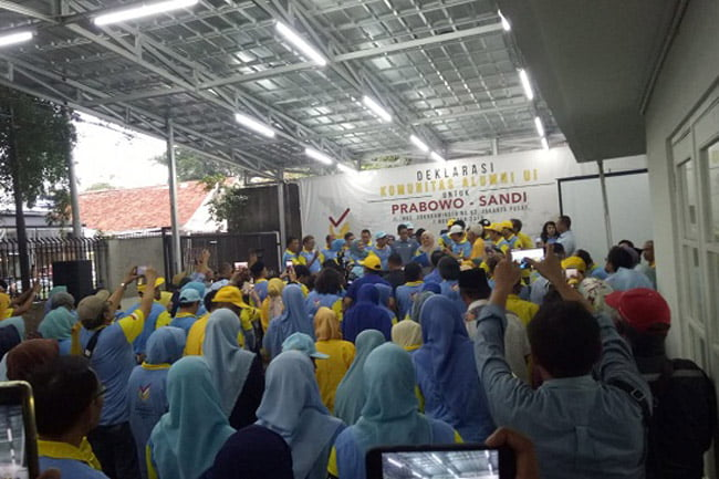 Demi Perubahan Indonesia Komunitas Alumni UI Dukung Prabowo-Sandi