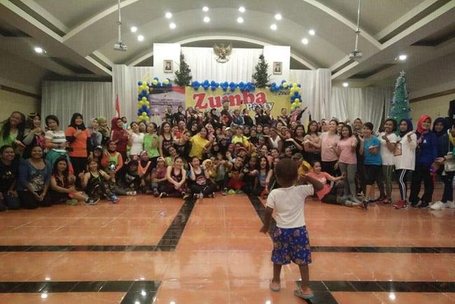 Ibu-Ibu IBWS Papua Barat Gelar Zumba Party di Hari Bhakti PUPR Ke73