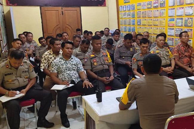Polres Muna Gelar Rapat Persiapan Sambut Ulang Tahun Bhayangkara ke73