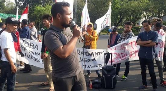 Masa Aksi Bela Rakyat Desak Pemulangan TKA China di PLTU Tanjung Karang