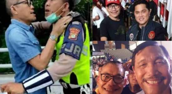 Video Sekjen Rakyat Militan Jokowi Tantang Polisi Berkelahi