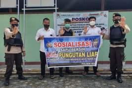 Polsek Kumai Galakkan Sosialisasi Saber Pungli