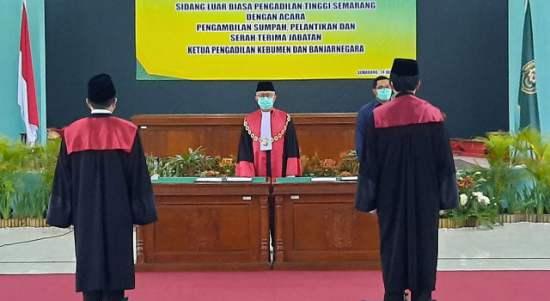 Ketua PT Semarang Lantik Edi Subagiyo Jadi Ketua PN Kebumen