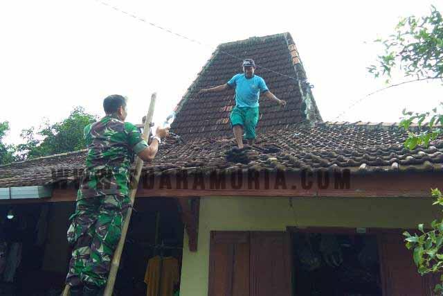Belasan Rumah di Pati Rusak Diterjang Angin Kencang