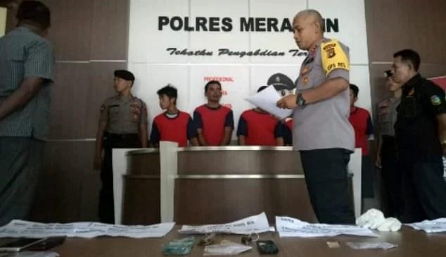 Dalam Sepekan Sat Narkoba Polres Merangin Bekuk 5 Orang Pelaku Penyalahgunaan Narkoba
