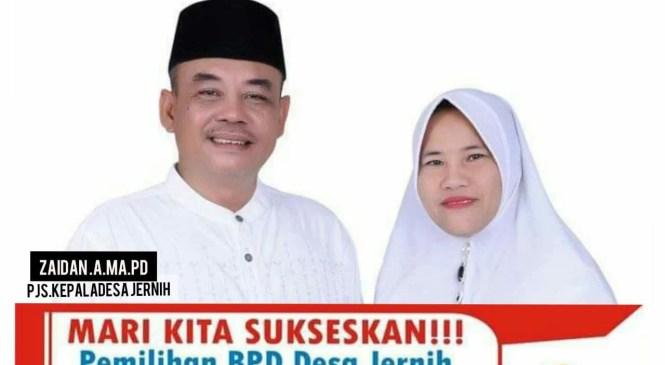 Zaidan : Kita Berharap Pemilihan BPD Desa Jernih Berjalan Sukses