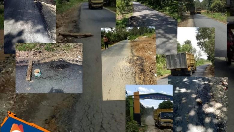 Akibat Angkutan Galian C, Jalan Aspal Menuju Tanjung Gagak Mulai Rusak