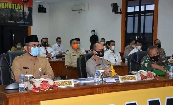 Sekda Tegaskan Pemerintah dengan Forkompimda Sinergi Cegah Karhutla di Provinsi Jambi