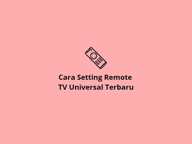Setting remote tv universal