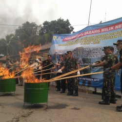 Barang Ilegal Senilai Rp7,1 Miliar Dimusnahkan di Banjarmasin