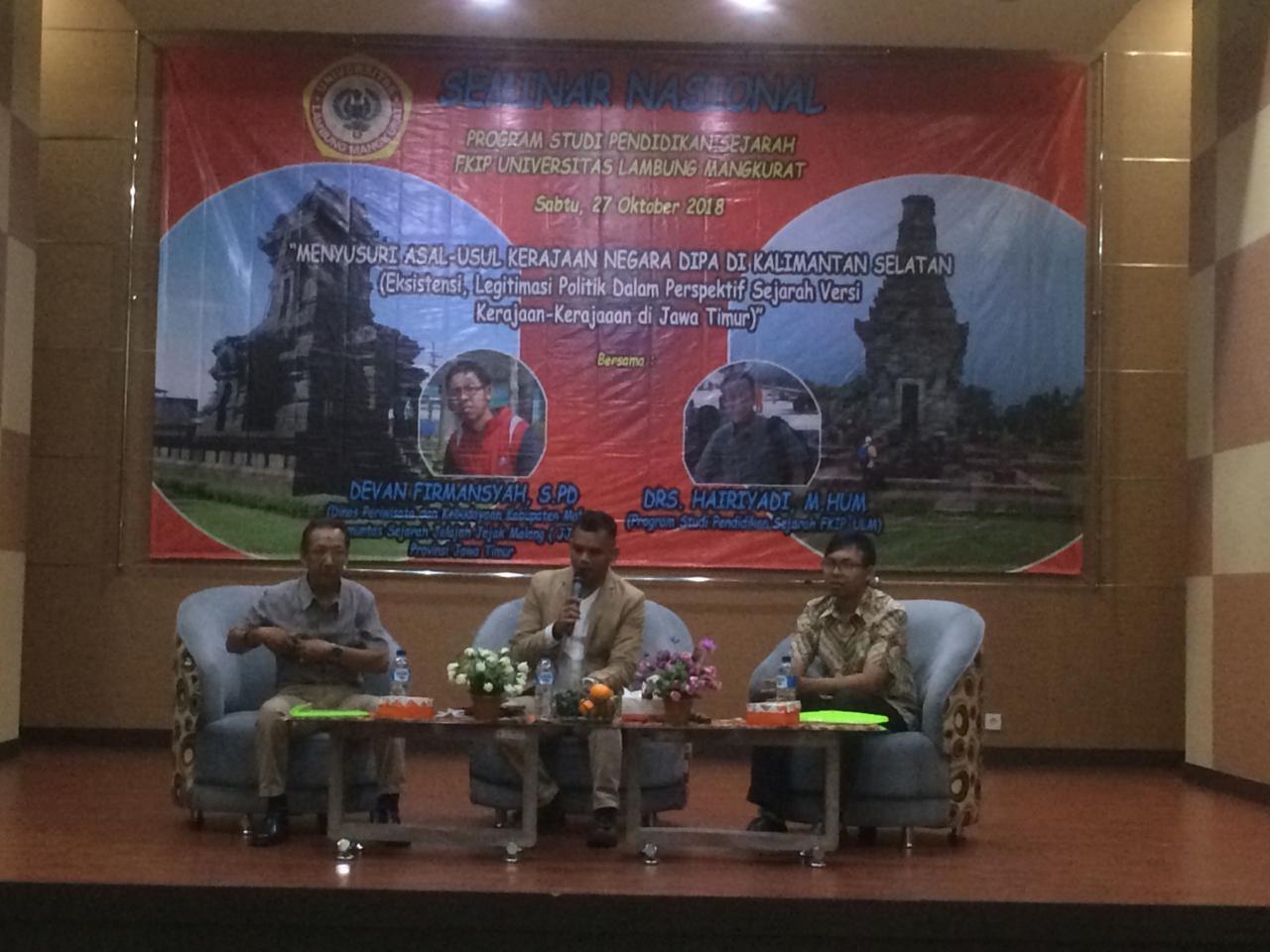 Seminar Nasional Bahas Kerajaan Negara Dipa versi Kerajaan di Jatim