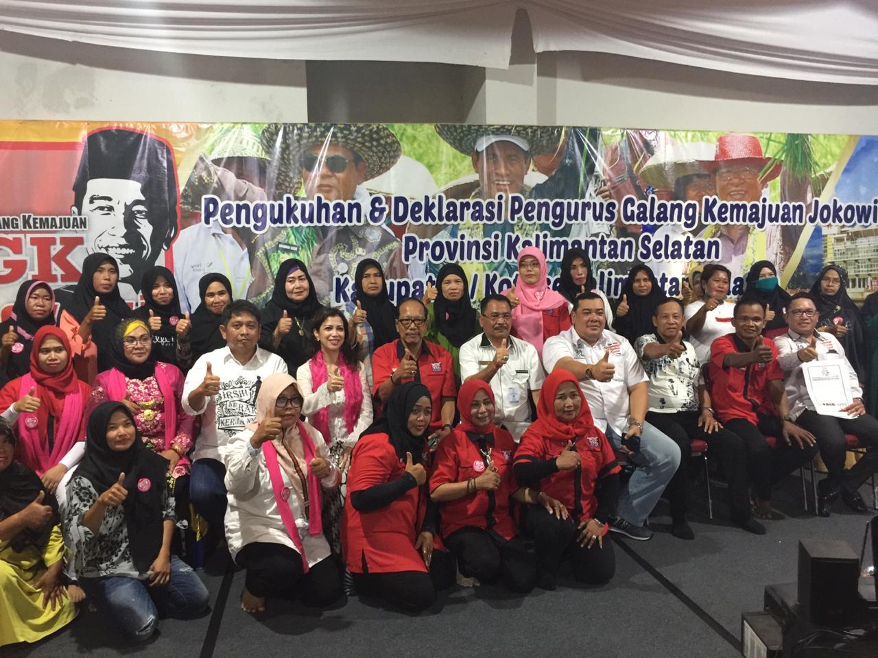 Relawan GK Jokowi Kalsel dan GK Ladies Dideklarasikan