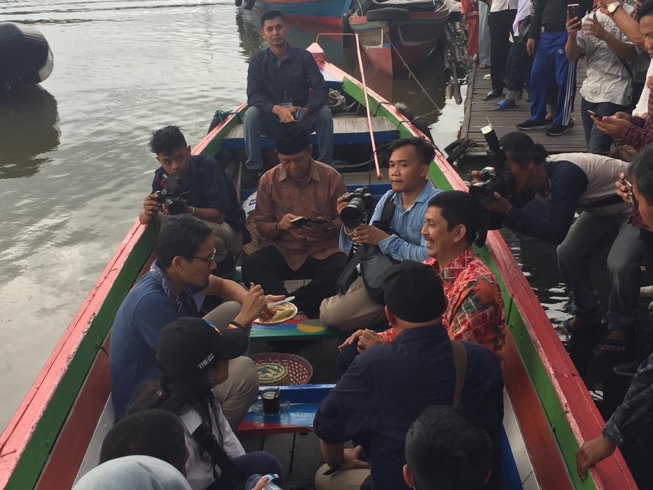 Sandi Nikmati Wisata Siring dan Kuliner Banjar