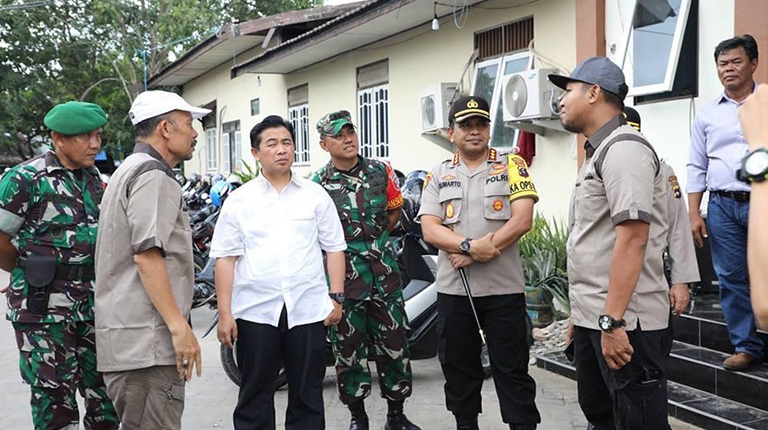 Walikota-Forkopimda Pantau Rekapituasi di Kecamatan