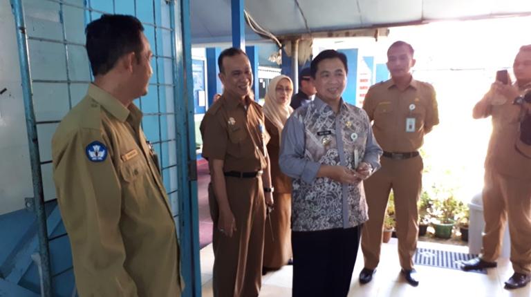 Walikota Sidak UNBK SMP/MTs di Banjarmasin