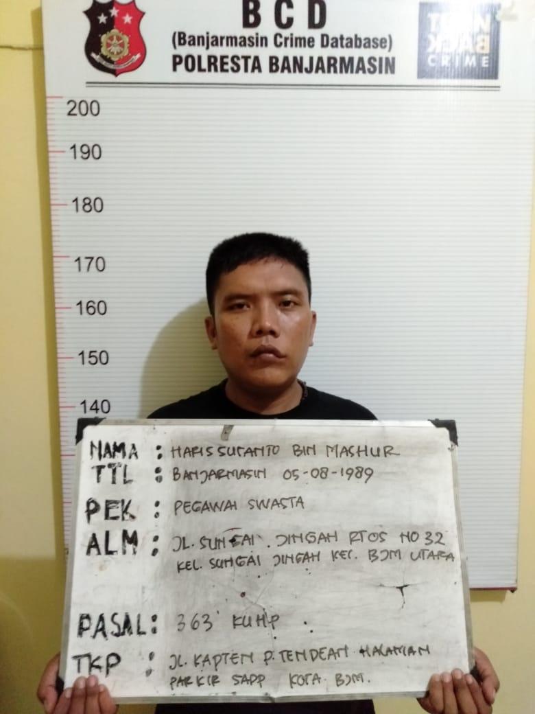 Pencuri Motor Karyawan Perusahaan PT SADP, Ditangkap