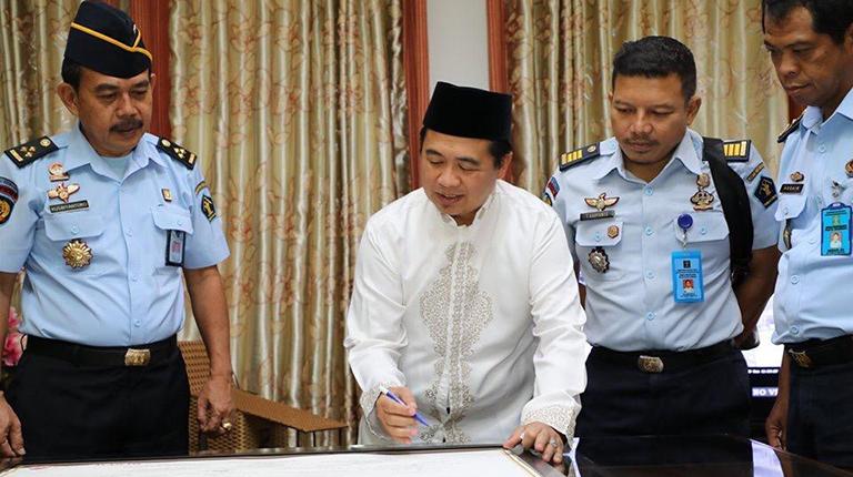 Walikota Dukung Lapas Teluk Dalam Zona Bebas Korupsi