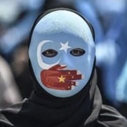 BERAKHIR RICUH Aksi Solidaritas Bela Uighur di Hong Kong