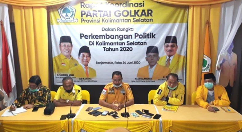 DPD GOLKAR KALSEL Putuskan Usung Haris dan Yuni di Pilwali Banjarmasin