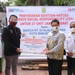 27 UNIT Jamban Sehat Diserahkan BNI untuk Warga Alalak Utara