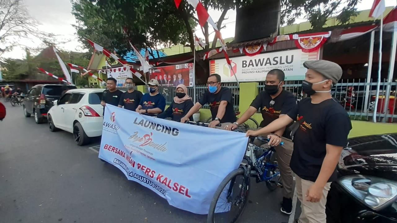 BAWASLU KALSEL Launching Program Jaga Pemilu untuk Meriahkan HUT RI ke-75