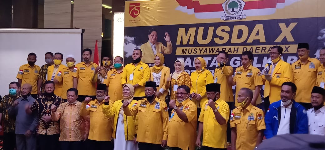 AKLAMASI TERPILIH H Yuni Nur Abdi Sulaiman di Musda Partai Golkar Banjarmasin