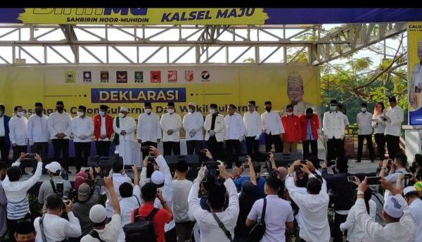 DIDUKUNG 9 Parpol, Birin-Muhidin Deklarasi Sebagai Kontestan Pilkada 2020