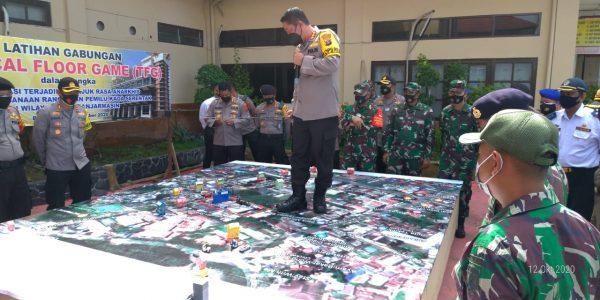 ANTISIPASI Unjuk Rasa Susulan, Polresta Banjarmasin Laksanakan Tactical Floor Game
