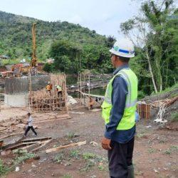 PEMBANGUNAN Jembatan Aranio Ditarget Rampung Desember Mendatang