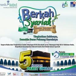 DITAWARKAN Bank Kalsel Syariah, Umrah Gratis 5 Nasabah