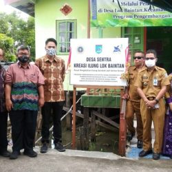 DITETAPKAN Desa Lok Baintan Sebagai Sentra Kreasi Ilung