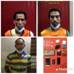 TIGA ORANG Petani dan Buruh Digiring Anggota Dit Resnarkoba Polda Kalsel