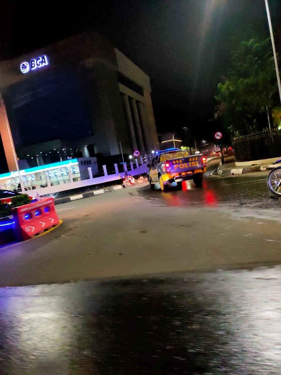 LENGGANG Situasi Malam Tahun Baru di Banjarmasin, Patroli Silih Berganti dan Dijaga Ketat