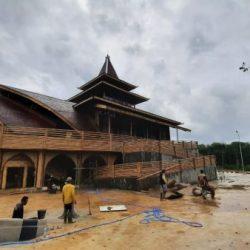 RAMPUNG dan Siap Difungsikan Bangunan Masjid Bambu