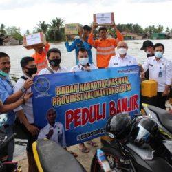 BNNP KALSEL Turut Prihatin dan Bantu Warga Lokbaintan