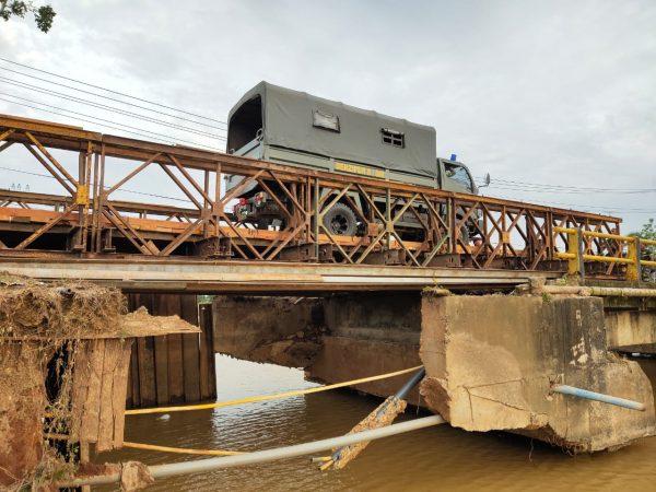 AKHIRNYA Pasukan Denzipur 8 / GM Rampungkan Jembatan Belly Tabanio 1