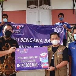 DONASI PT TIKI bagi Korban Banjir Banjarmasin Puluhan Juta Rupiah