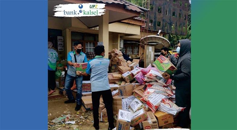 BANK KALSEL Bagi Bantuan Dana UPZ Air Bersih dengan Empat Buah Pemadam