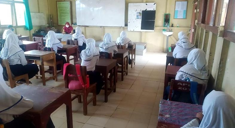 PTM DI SMPN 22 Banjarmasin, Prokes Ketat Terlaksana dengan Baik