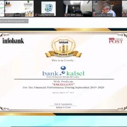 PENGHARGAAN Infobank TOP BUMD Award 2021 Disabet Bank Kalsel