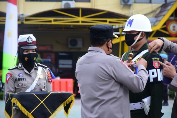 DIMATANGKAN Satker Polda Kalsel Pada Operasi Kepolisian Kewilayahan Keselamatan Intan 2021