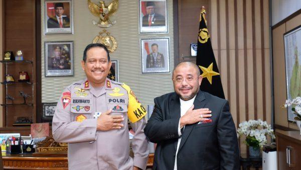 KAPOLDA KALSEL Sampaikan Beberapa Hal dan Samakan Persepsi dengan Habib Aboe Bakar
