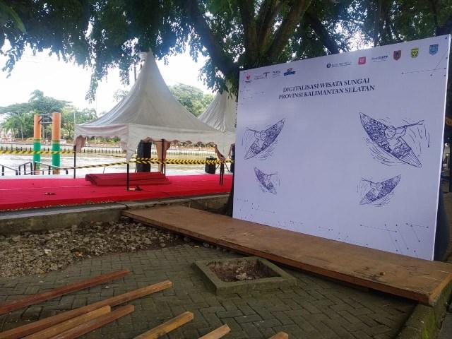 event ceremonial di Siring Piere Tendean di Kota Banjarmasin