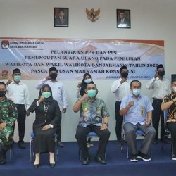 DILANTIK, PPK dan PPS untuk Pemungutan Suara Ulang Pilwali Banjarmasin