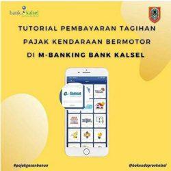 KALSELAYOA Bayar Tagihan Pajak Kendaraan Bermotor Di M-Banking Bank Kalsel
