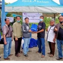 BERSAMA Bank Kalsel dan Pelindo, JOIN Bagikan Sembako untuk Para Jurnalis