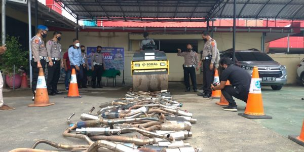 DIGILAS  STUM 110 Knalpot Brong Hasil Operasi Ketupat Intan 2021