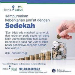 SEMPURNAKAN Jumat Berkah, Saling Membantu Bersama Bank Kalsel